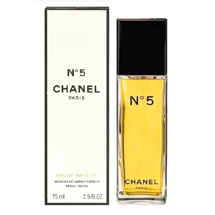 Chanel No. 5 Perfume by Chanel 2.5oz Eau De Toilette Rechargeable Refillable spray for women
