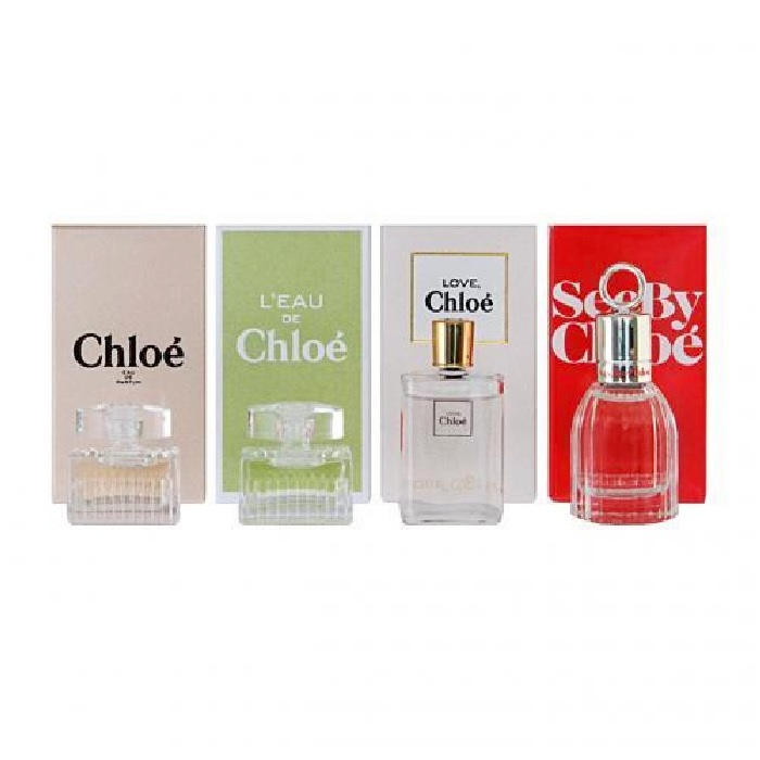 Chloe Mini Perfume Gift Set - 4 Minies for Women - Chloe, L'eau de Chloe, Love Chloe, & See by Chloe 5ml Eau De Parfum
