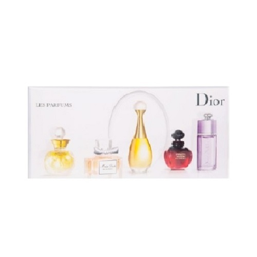 Christian Dior 5 Mini Set for women - Miss Dior Cherry, Dolce vita, Jadore, Hypnotic Poison, and Dior addict
