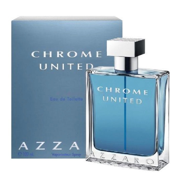 Chrome United Cologne by Azzaro 3.4oz Eau De Toilette Spray for men
