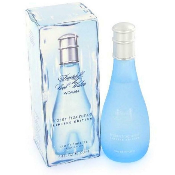 Cool Water Frozen Perfume by Davidoff 3.4oz Eau De Toilette Spray for women