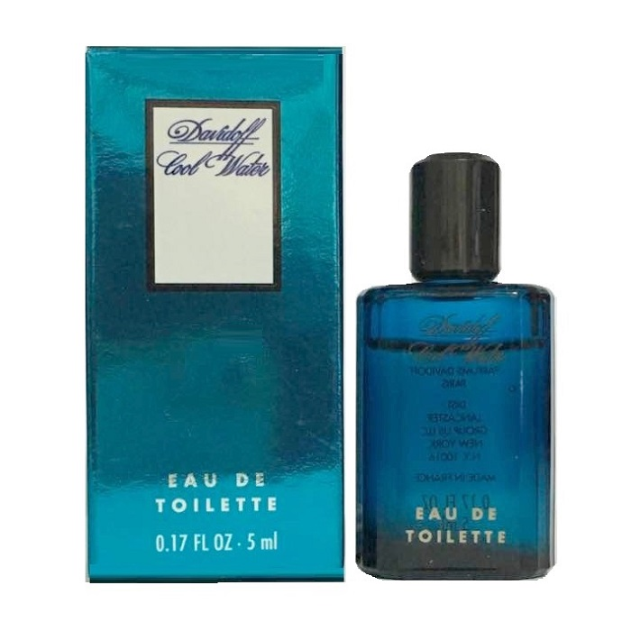 Cool Water Mini Cologne by Davidoff 0.17oz / 5ml Eau De Toilette for men