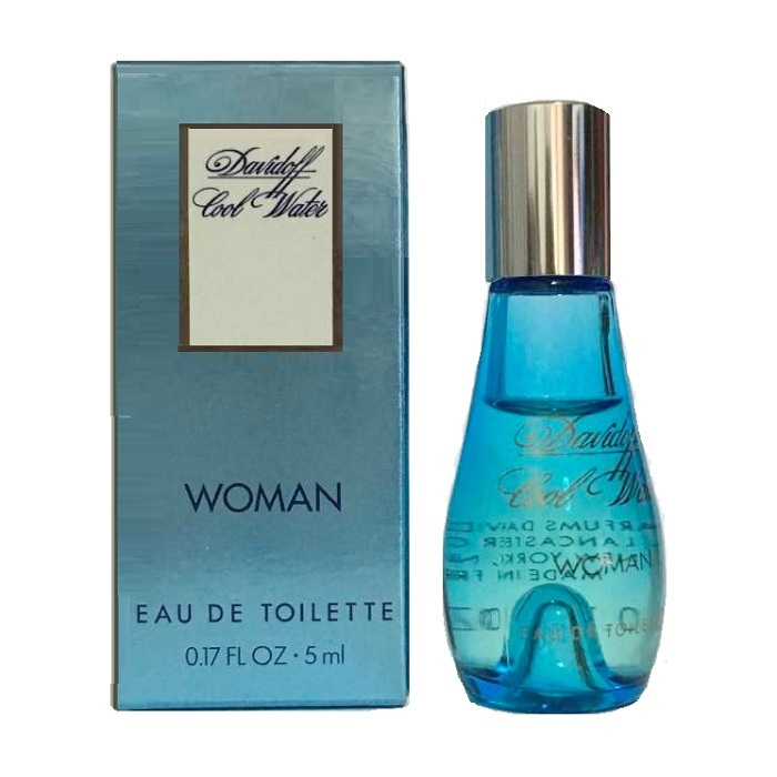 Cool Water Mini Perfume by Davidoff 0.17oz / 5ml Eau De Toilette for Women