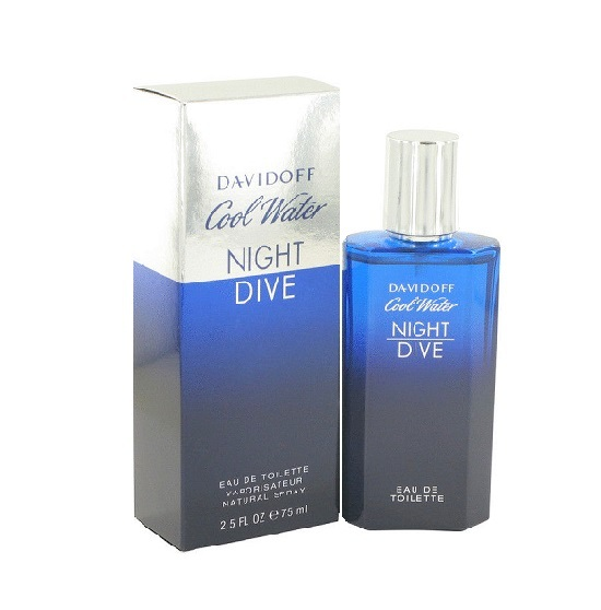 Cool Water Night Dive Cologne by Davidoff 2.5oz Eau De Toilette spray for men