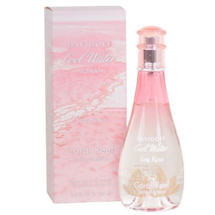 Cool Water Sea Rose Coral Reef Perfume by Davidoff 3.4oz Eau De Toilette spray (limited edition) for Women