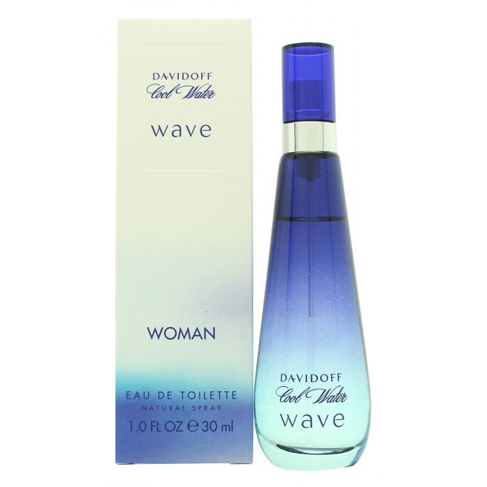 Cool Water Wave Perfume by Davidoff 1.0oz Eau De Toilette spray for women