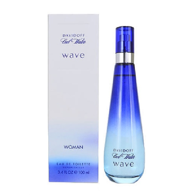 Cool Water Wave Perfume By Davidoff 34oz Eau De Toilette Spray For