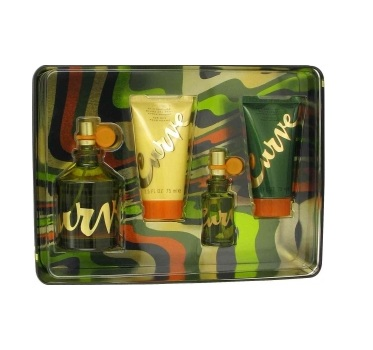 Curve Perfume for men Gift Set - 4.2oz EDT spray, 0.5oz Cologne spray, 2.5oz Hair & Body Wash, and 2.5oz Skin