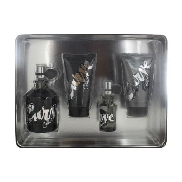 Curve Crush Gift Set for Men - 4.2oz cologne spray, 2.5oz body wash, 2.5oz skin soother and 2.6oz deodorant stick
