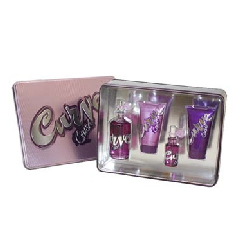 Curve Crush Perfume Gift Set - 3.4oz Eau De Toilette Spray, 0.5oz Eau De Toilette Spray, 2.5oz Body Lotion & 2.5oz Shower Gel
