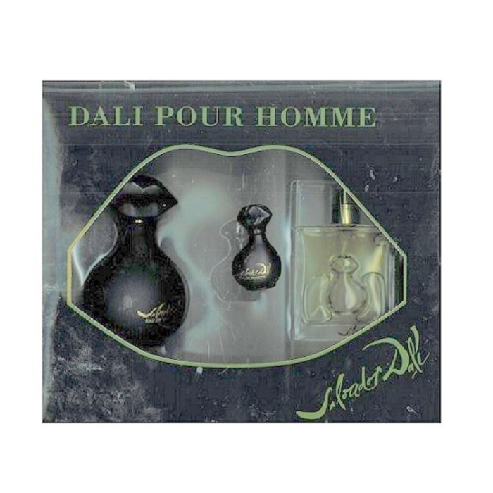 Dali Pour Homme Gifts Set for Men - 3.4oz Eau De Toilette Spray, 1.7oz After Shave & 0.17oz Mini