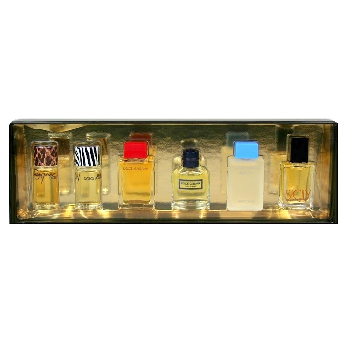 Dolce & Gabbana Perfume Mini Collection - Sicily, Dolce Gabbana, Light Blue & By for women; Dolce Gabbana & By for men