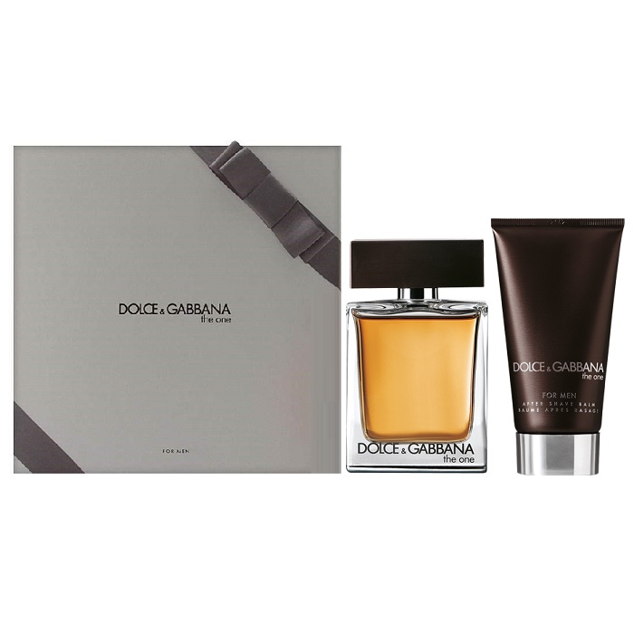 Dolce & Gabbana The One Gift Set for men - 1.6oz Eau De Toilette spray, & 2.5oz After Shave Balm