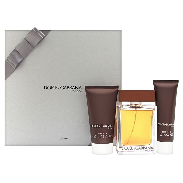 Dolce & Gabbana The One Gift Set for Men - 3.4oz Eau De Toilette spray & 2.5oz After Shave Balm
