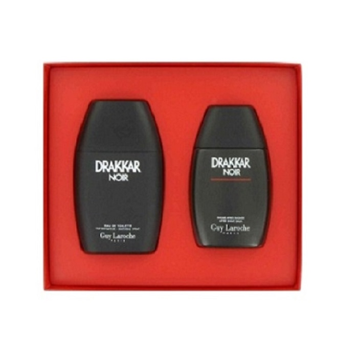 Drakkar Noir Gift Set - 3.4oz Eau De Toilette spray, & 3.4oz After Shave Balm
