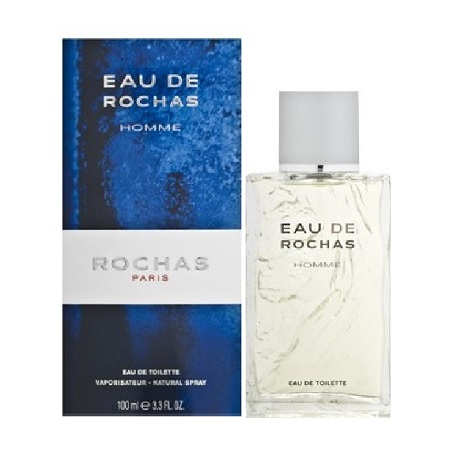 Eau de Rochas Cologne by Rochas 3.4oz Eau De Toilette spray for Men