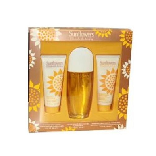 Elizabeth Arden Sunflowers Perfume Gift Set - 3.3oz Eau De Toilette spray, 3.3oz Body Lotion & 3.3oz Body Cream