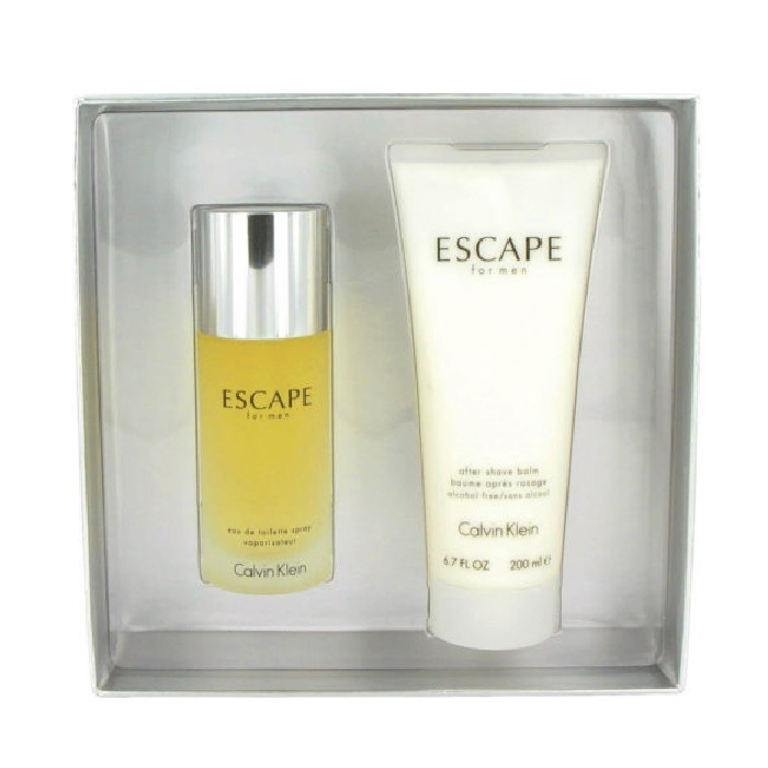 Escape Cologne Gift Set for men - 3.4oz Eau De Toilette spray & 6.7oz After Shave Balm