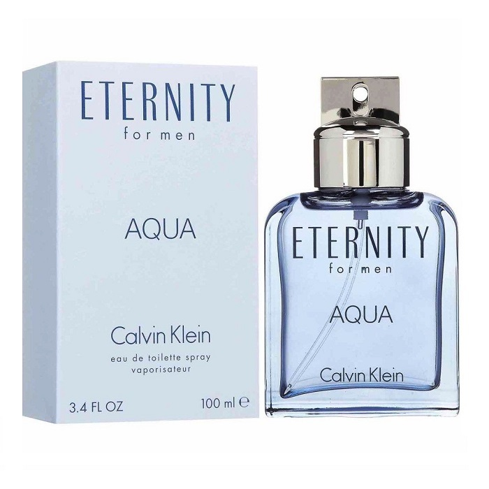 Eternity Aqua Cologne by Calvin Klein 3.4oz Eau De Toilette spray for Men