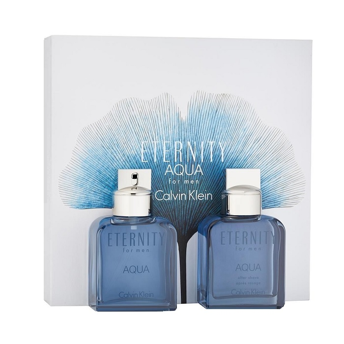 Eternity Aqua Gift Set for men - 3.4oz Eau De Toilette spray, & 3.4oz After Shave Lotion (liquid)