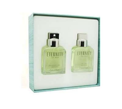 Eternity Gift Set for men - 3.4oz Eau De Toilette Spray and 3.4oz Sfter Shave Lotion