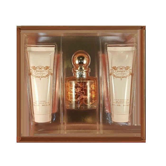 Fancy Perfume Gift Sets - 3.4oz Eau De Parfum Spray, 3.0oz Body Lotion, & 3.0oz Shower Gel