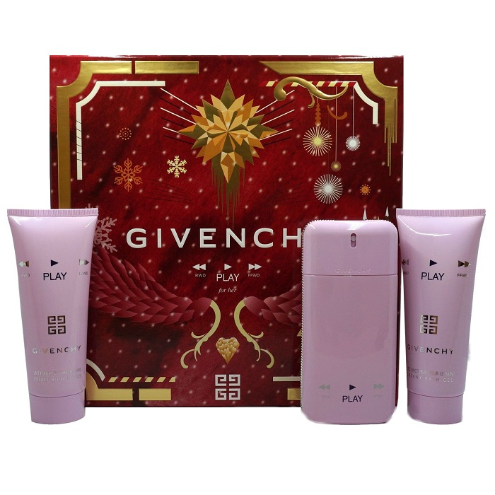 Givenchy Play Perfume Gift Sets by Givenchy for women - 1.7oz Eau De Parfum Spray, 3.4oz Body Lotion & 3.4oz Shower Gel