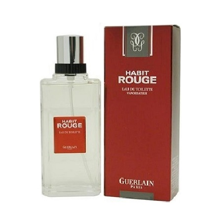 Habit Rouge Cologne by Guerlain 3.4oz Eau De Toilette spray for Men