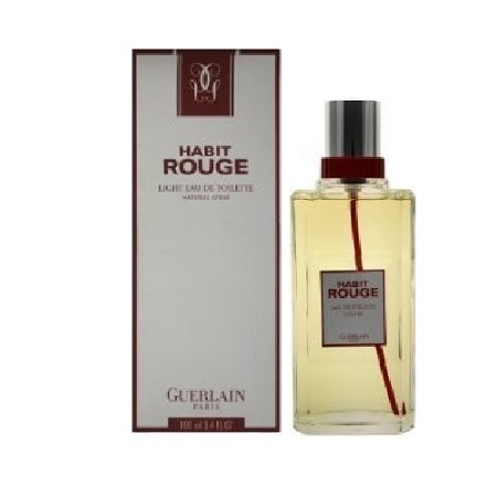 Habit Rouge light Cologne by Guerlain 3.4oz Eau De Toilette spray for Men