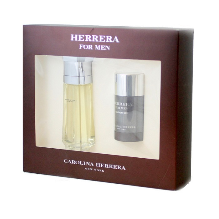 Herrera for Men Gift Set - 3.4oz Eau De Toilette spray, and 2.6oz Deodorant Stick