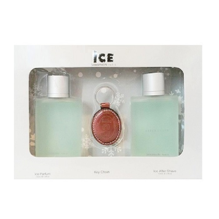 Ice Sakamichi Perfume Gift Set by Sakamichi Paris for Men - 3.4oz Eau De Toilette, 3.4oz After Shave Lotion, & Key Chain