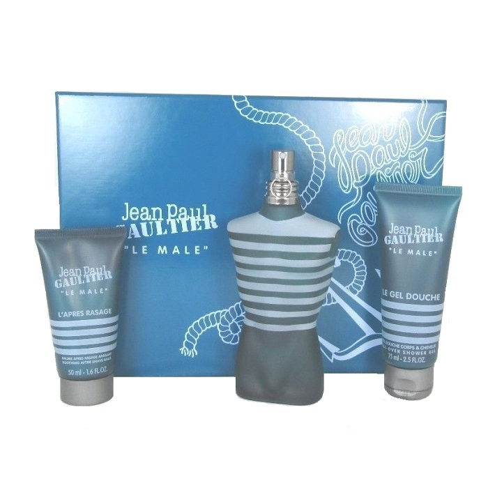 Jean Paul Gaultier Le Male Gift Set - 4.2oz Eau De Toilette spray, 2.5oz Shower Gel, & 1.0oz After Shave Balm