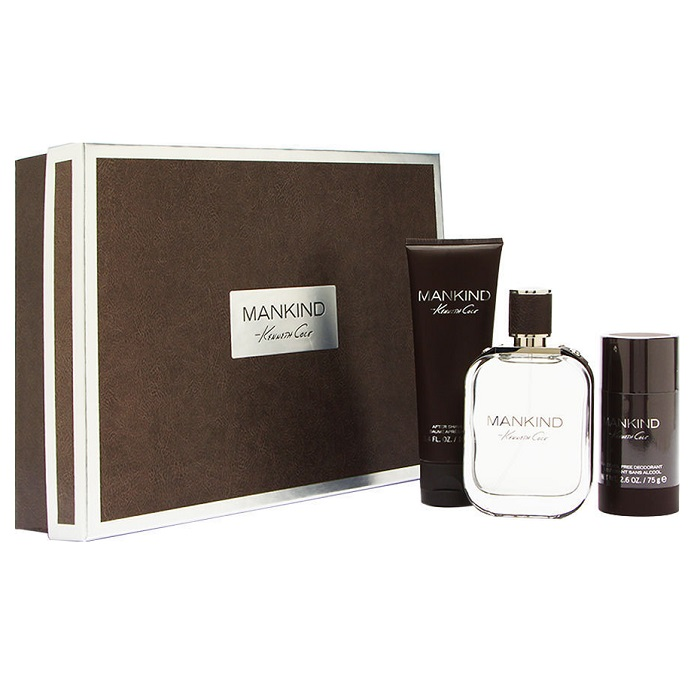 Kenneth Cole Mankind Cologne Gift Set for Men - 3.4oz Eau De Toilette spray, 3.4oz After Shave Balm, & 2.5oz Deodorant Stick