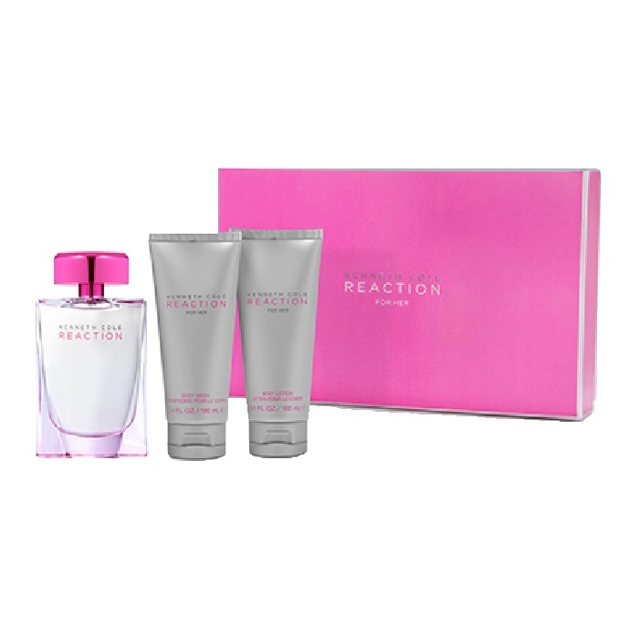 Kenneth Cole Reaction Perfume Gift Sets - 3.4oz Eau De Parfum Spray, 3.4oz Body Lotion, & 3.4oz Shower Gel