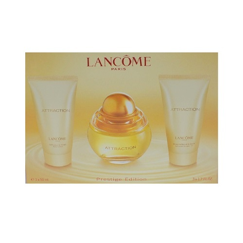 Attraction Perfume Gift Set by lancome for women - 1.7oz Eau De Perfume spray, 1.7oz Body Lotion & 1.7oz Gel