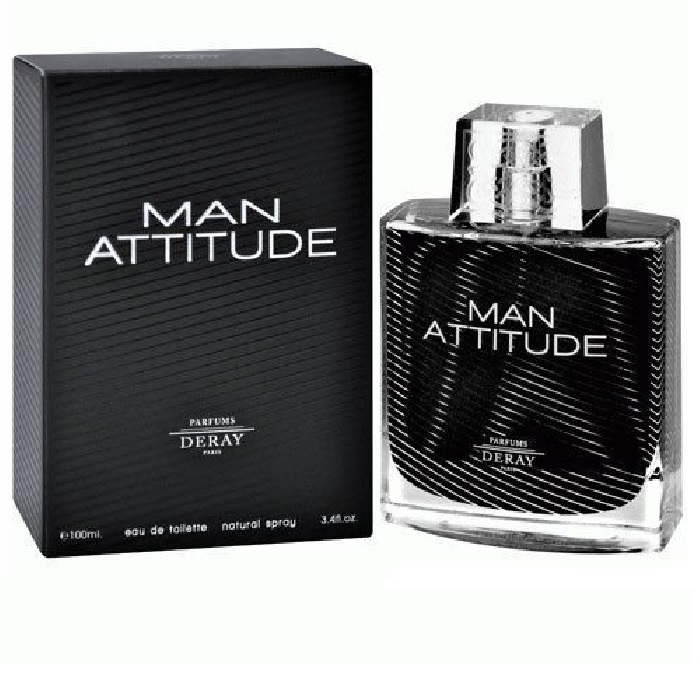 Man Attitude Cologne by Parfums Deray 3.4oz Eau De Toilette spray for men
