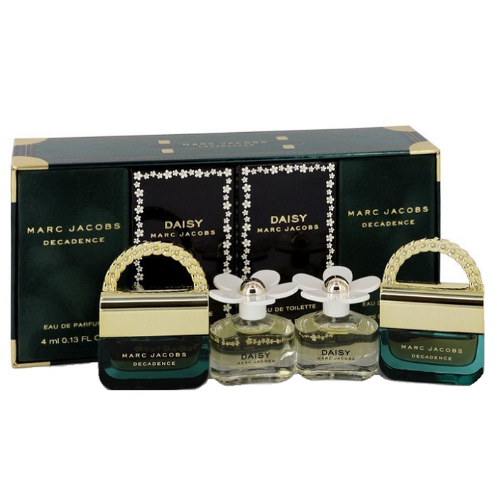 Marc Jacobs Mini Perfume Gift Sets for women - Two Daisy Travel Spray, & Two Decadence Travel Sprays all 0.13 oz