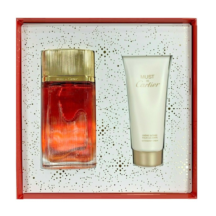 Must De Cartier Gold Perfume Gift Sets - 3.3oz Eau De Parfum Spray, & 3.3oz Body Cream