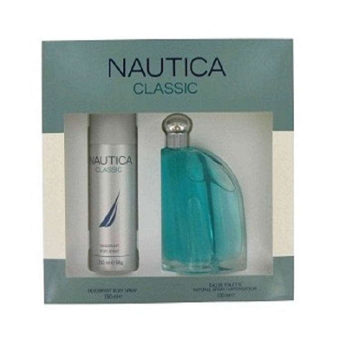 Nautica Gift Set for men - 3.4oz eau de toilette spray and 5.0oz deodorant body spray