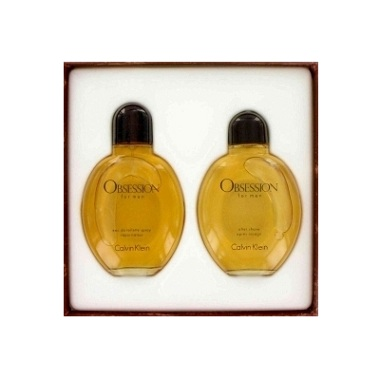 Obsession Gift Set for men - 4.0oz Eau De Toilette spray, and 4.0oz After Shave Lotion