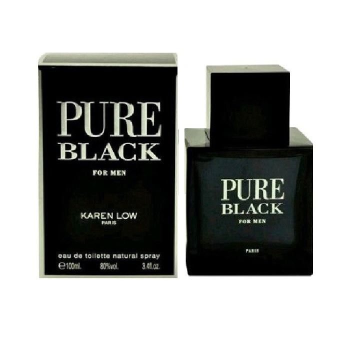 Pure Black Cologne by Karen Low 3.4oz Eau De Toilette spray for men