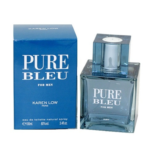 Pure Bleu Cologne by Karen Low 3.4oz Eau De Toilette spray for men