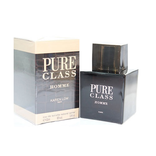 Pure Class Cologne by Karen Low 3.4oz Eau De Toilette spray for Men