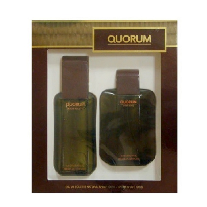 Quorum Cologne Gift Set - 3.4oz Eau De Toilette Spray and 3.4oz Sfter Shave Lotion