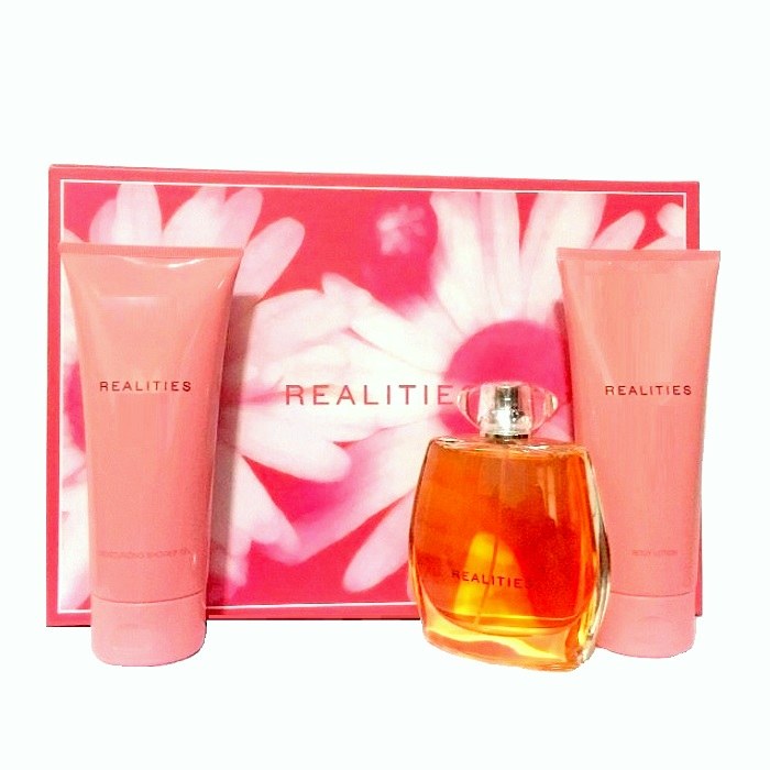 Realities Perfume 3 Piece Gift Set - 3.4oz Eau De Perfume spray, 6.7oz Body Lotion, & 6.7oz Shower Gel