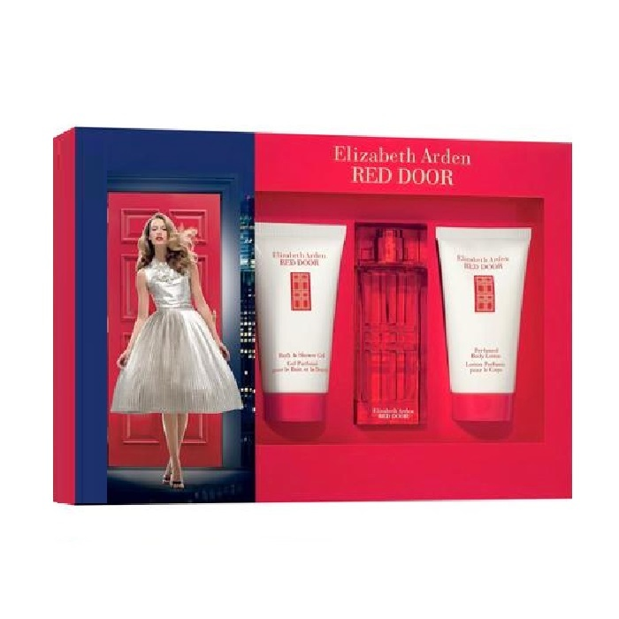 Red Door Perfume Gift Set for Women - 1.0oz Eau De Toilette spray, 1.7oz Body Lotion, and 1.7oz Shower Gel