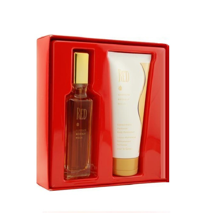 Red Perfume Gift Set for Women - 3.0oz Eau De Toilette spray, and 6.7oz Body Moisturizer