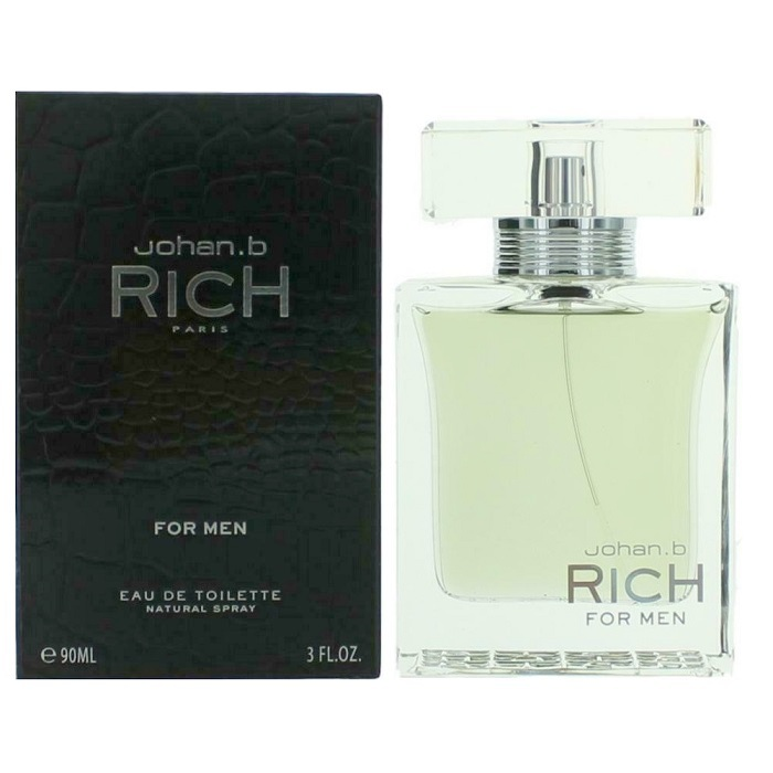 Rich Cologne by Johan B 3.0oz Eau De Toilette Spray for men