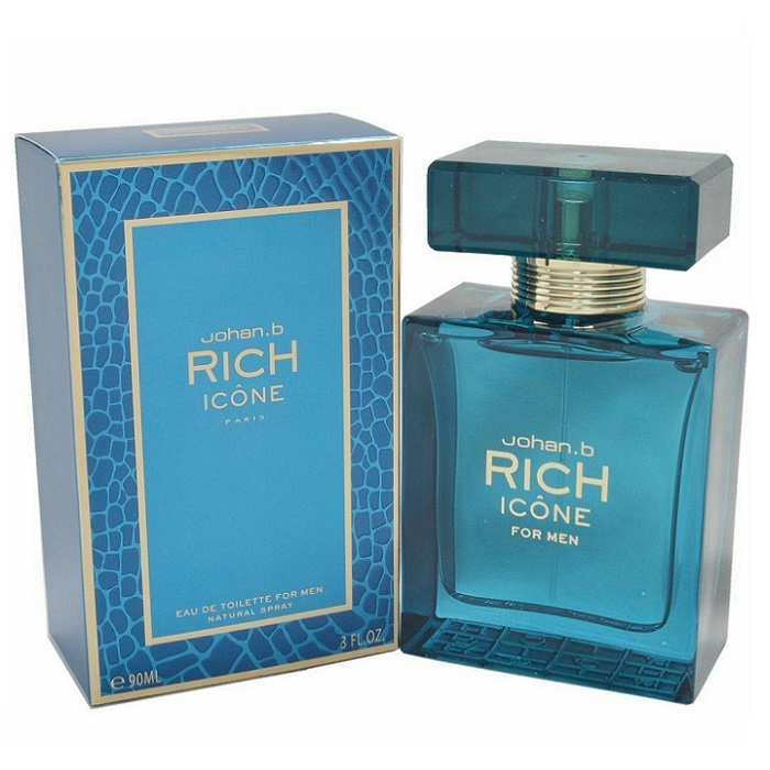 Rich Icone Cologne by Johan B 3.4oz Eau De Toilette Spray for men