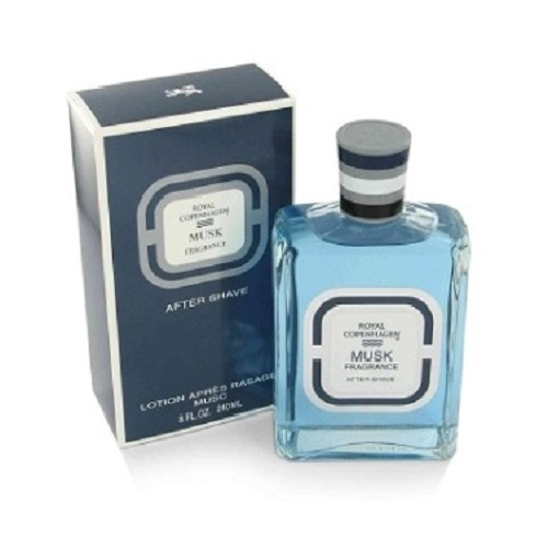 Royal Copenhagen Musk After Shave Lotion (liquid) by Royal Copenhagen 8.0oz for Men